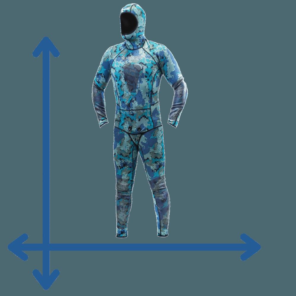 camo wetsuit sizing