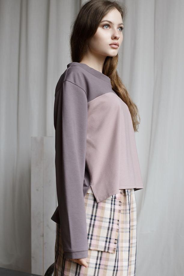 Трикотажная блуза оверсайз