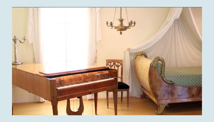 museum für kunst und kulrurgeschichte klavier und bett