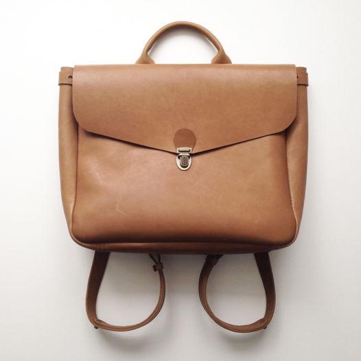 Кожаный рюкзак-портфель Brown Sugar