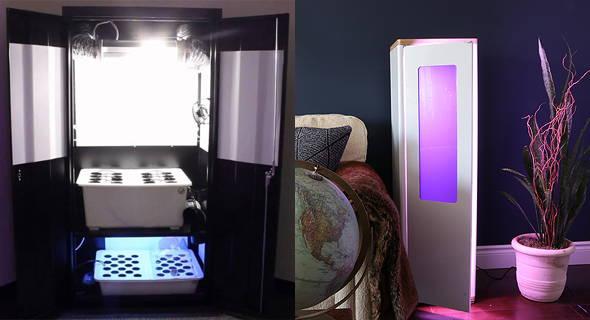 Super Closet Super Locker and Grobo One Hydroponic Grow Box