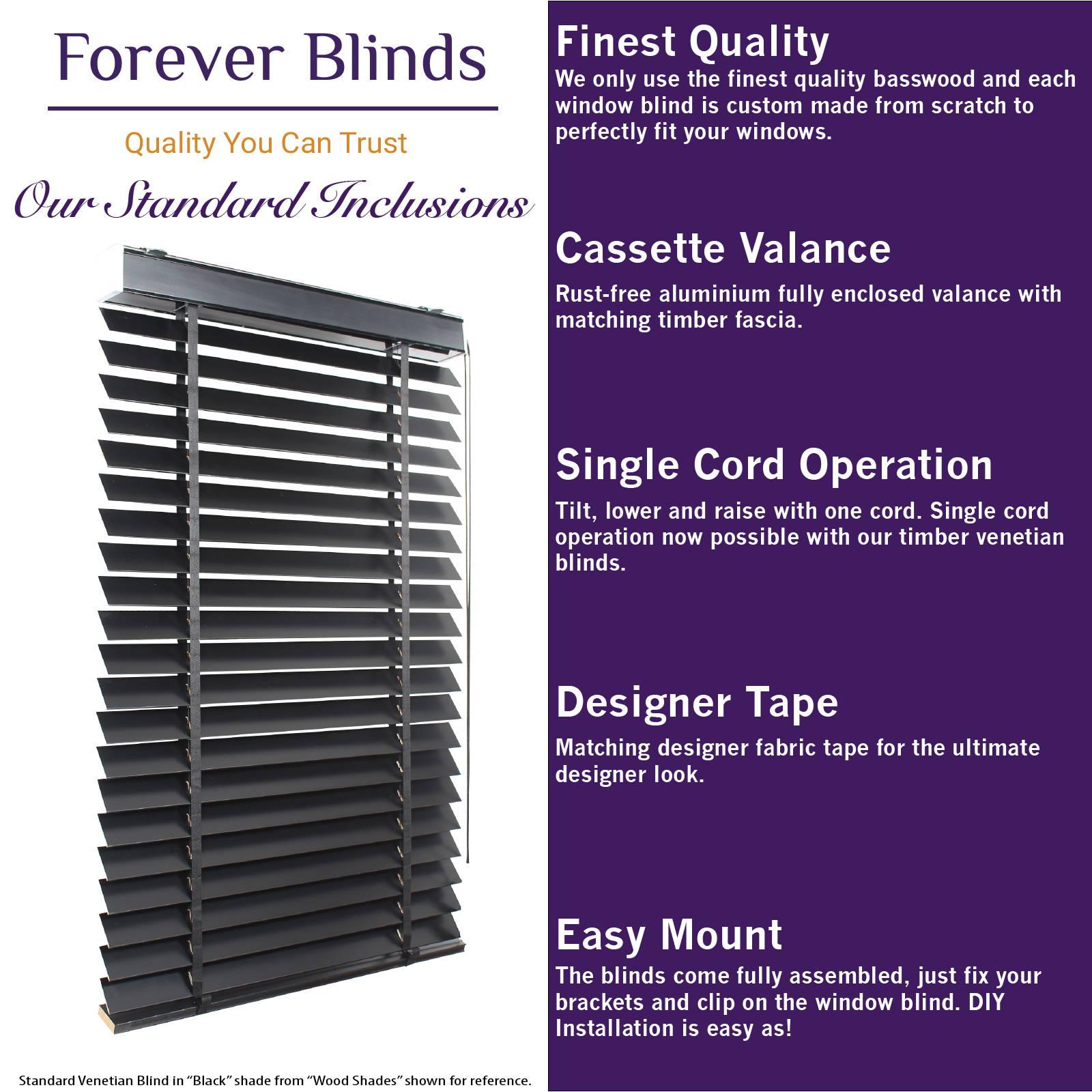 Timber Venetian Blinds - Forever Blinds