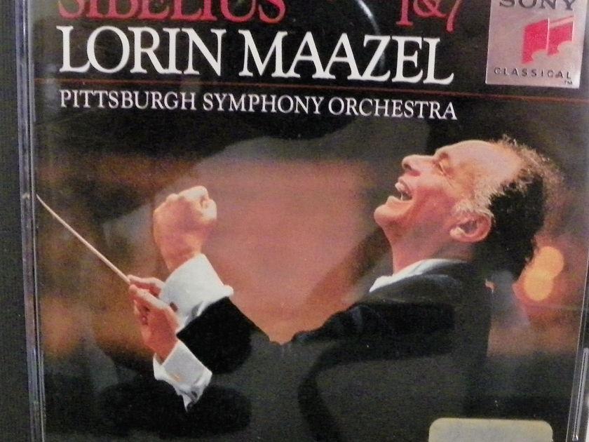 LORIN MAAZEL - SIBELIUS SYMPHONIES 1&7 SONY 20BIT CD