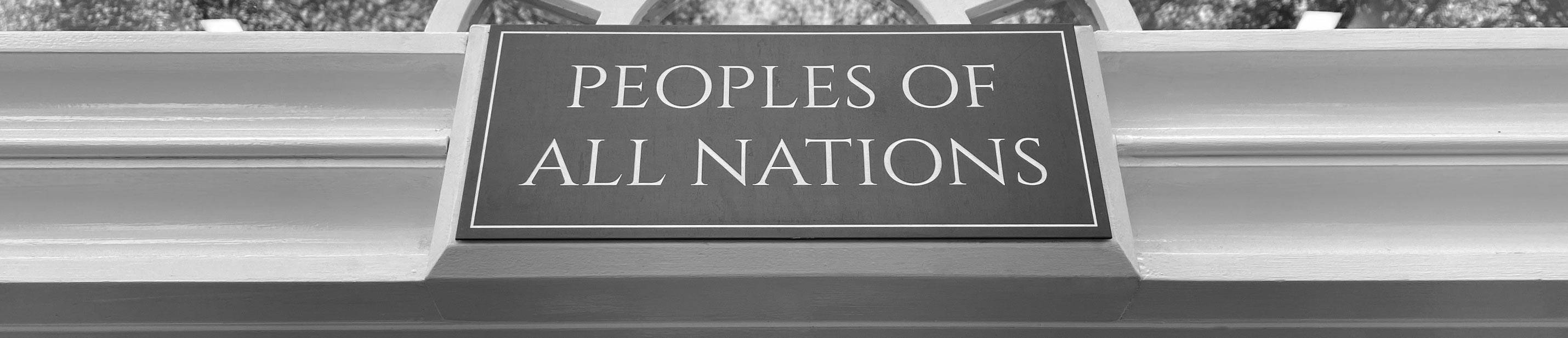 Peoples of All Nations Store Plaque