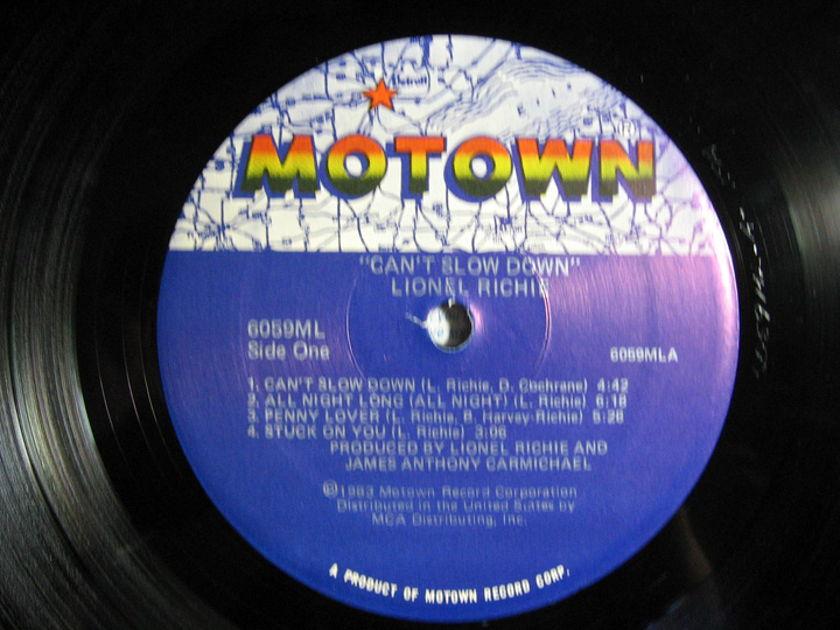 Lionel Richie  - Can't Slow Down  - 1983 Motown 6059ML