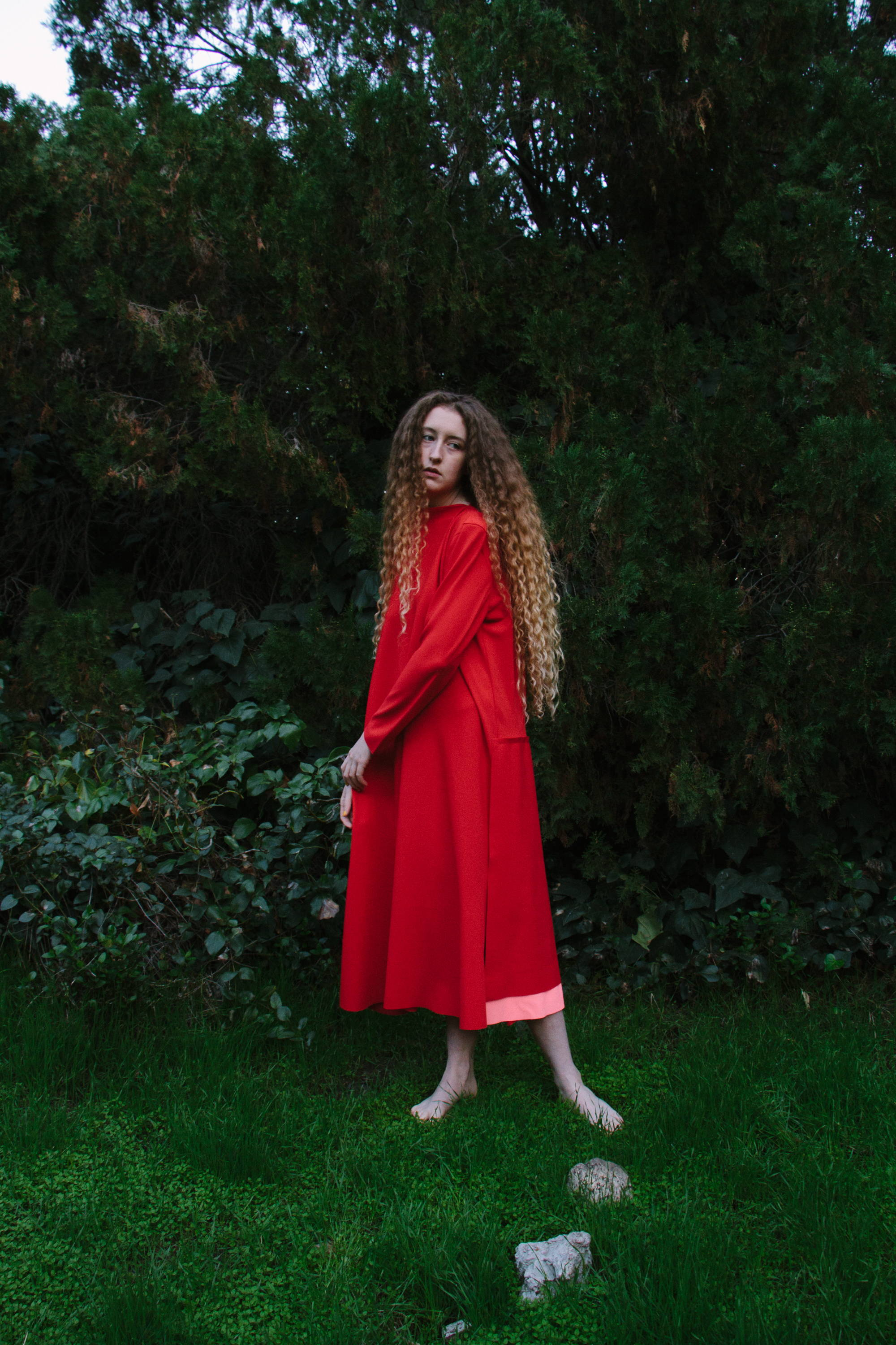 red draped dress by melitta ss18 baumeister- hlorenzo women feature