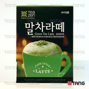 Korean green tea latte