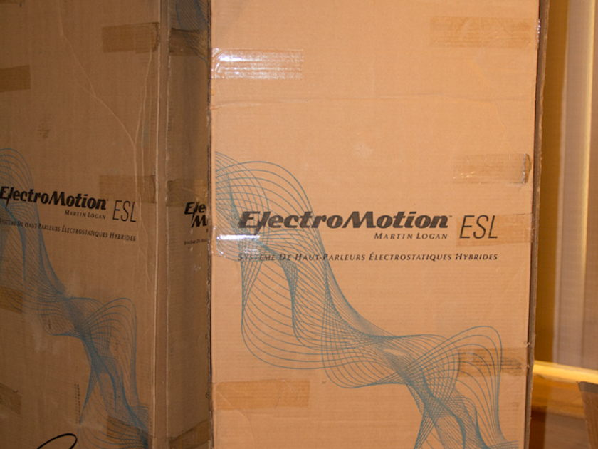 MARTIN LOGAN ELECTROMOTION ESL Pair in great condition and at a great price