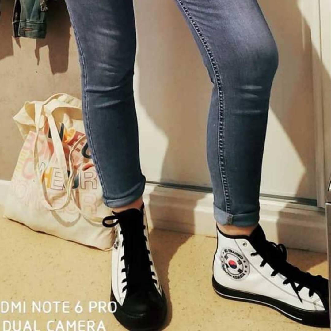 Chaussure mode coreenne drapeau