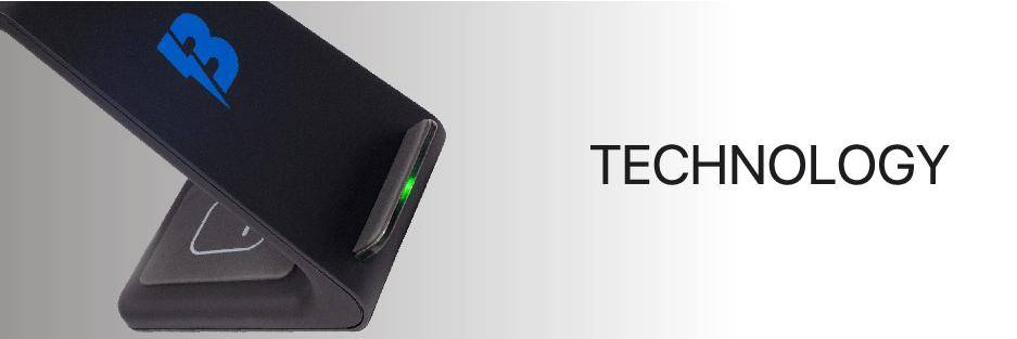 bolthome 3 in 1 wireless charging dock midnight black close up