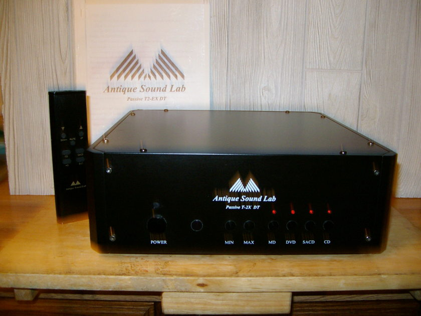 Antique Sound Lab ASL T 2X DT remote controlled passive preamp