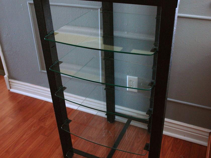 Wood Technnology MGA-6 Steel & Glass 6-shelf Equipment Rack