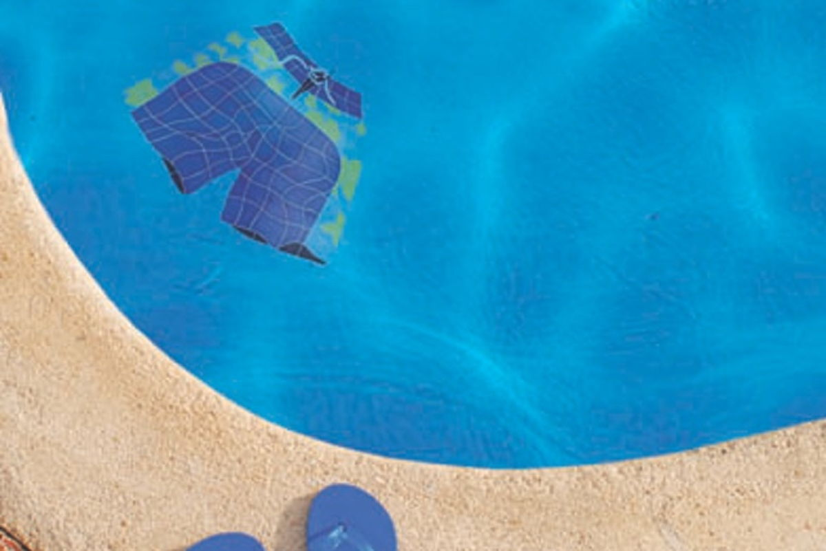 BSHBLUOM - Board Shorts Blue Pool Mosaic