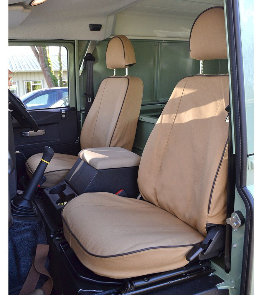 DEFENDER 110 / 130 EXMOOR TRIM SAND CANVAS SEAT COVERS's featured image