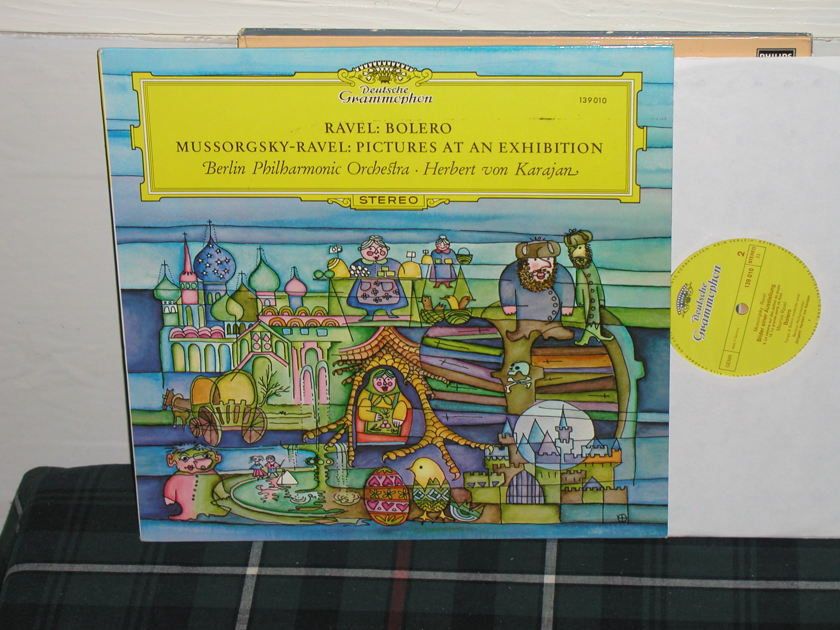 Von Karajan/BPO - Ravel/Mussorgsky DG german import  press