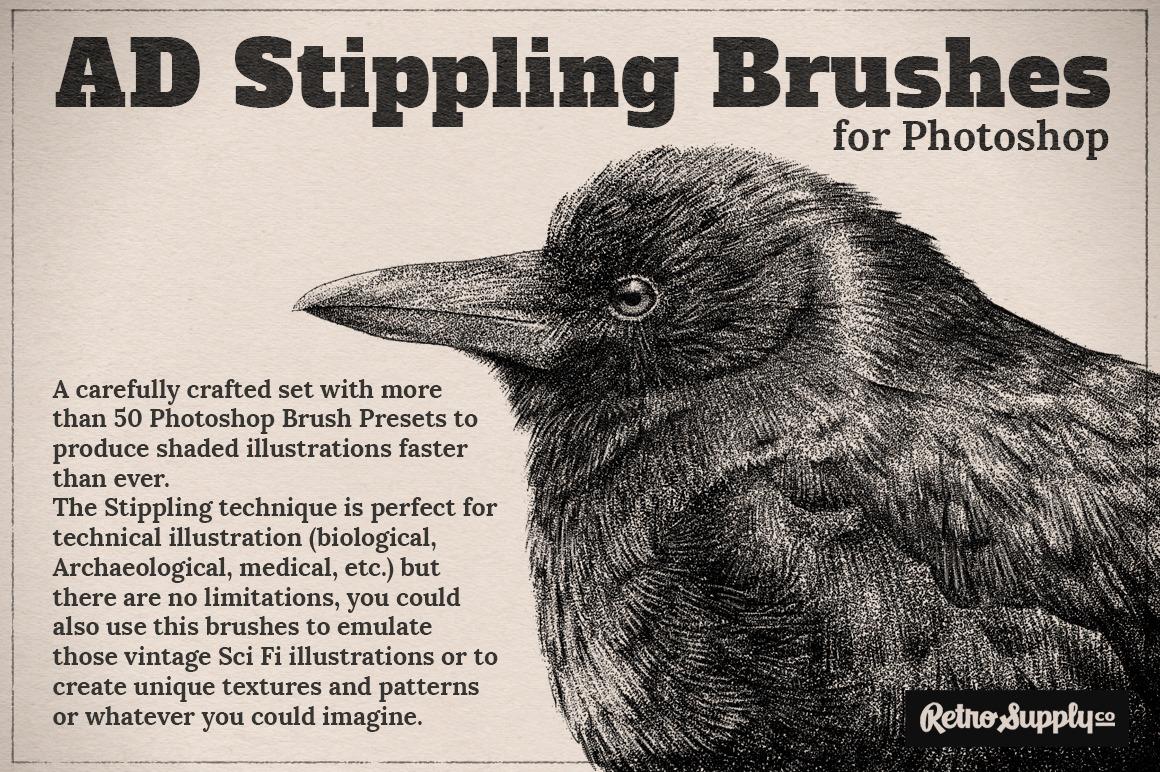 Alex Dukal Photoshop stippling brushes