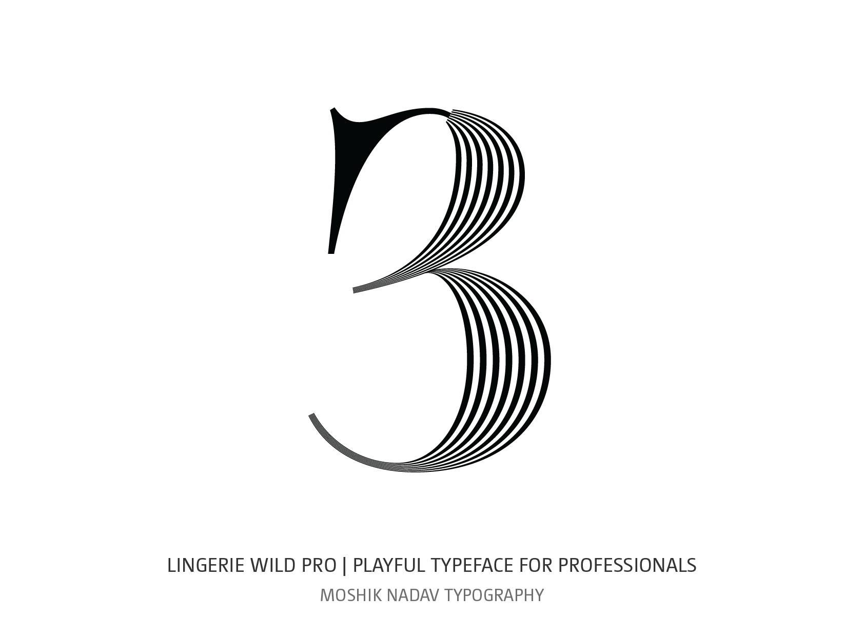Lingerie Wild Pro Typeface visage style designed by Moshik Nadav Typography