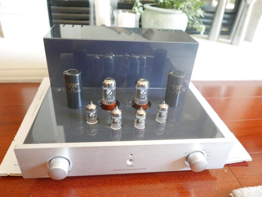 PrimaLuna DiaLogue 3 Tube Preamp Silver Excellent Condition