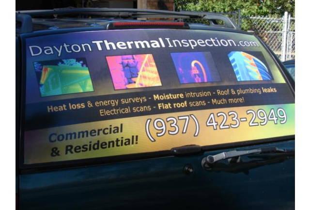 custom printed rear window decal