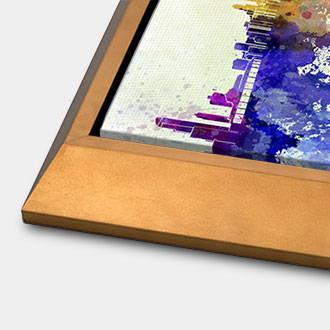 Gold angled canvas floater frame