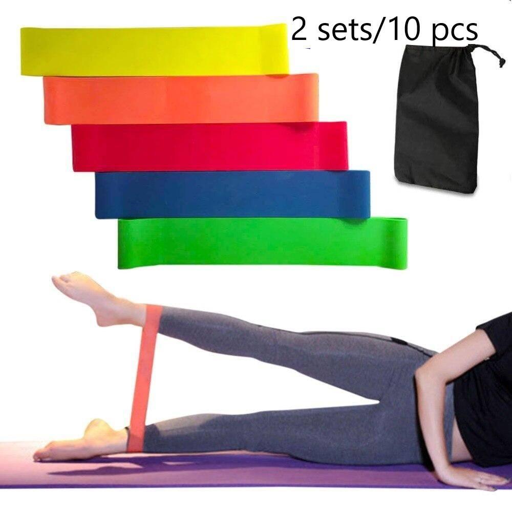 Set Of 10 Resistance Bands, Exercise Bands, Exercise Resistance Bands, Stretch Bands, Rubber Bands For Yoga And Pilates,, best resistance bands, best resisatance for glutes,stretch loop bands
