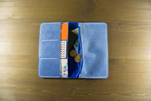Голубое портмоне il quinto blu