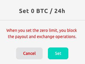 disabling transaction limits