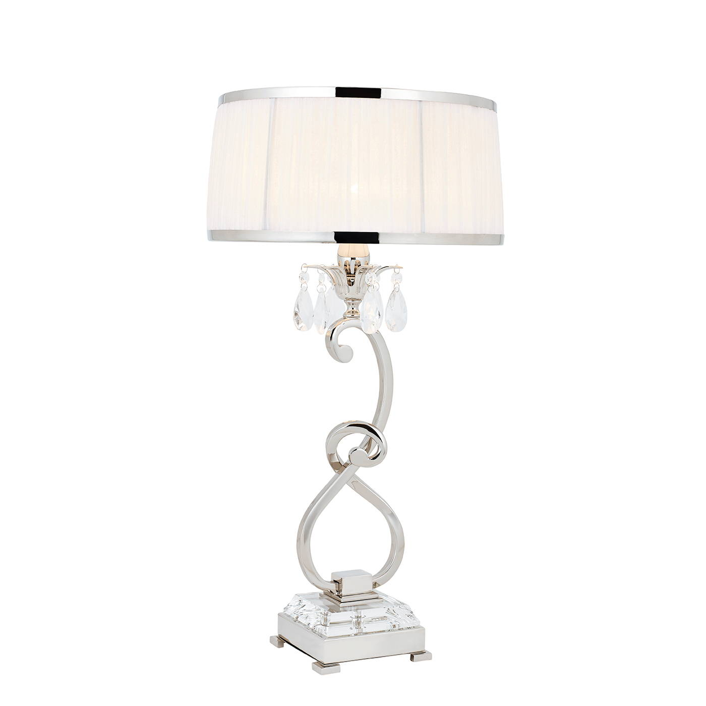 oksana nickel table lamps