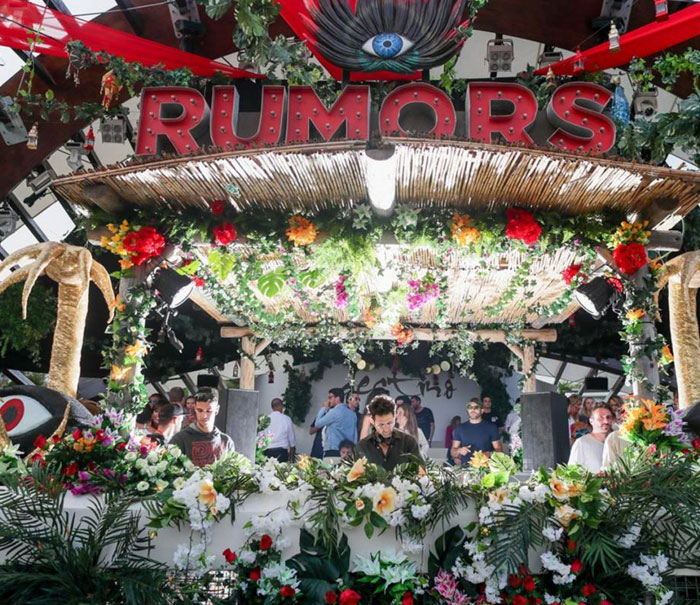 Rumours party in Las dalias, open air parties ibiza
