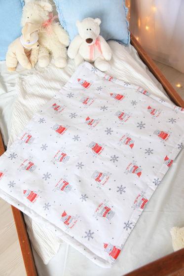 Одеялко из  хлопка серо-белых оттенков  ручной работы
