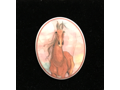 Spirit of Freedom Ceramic Horse Brooch