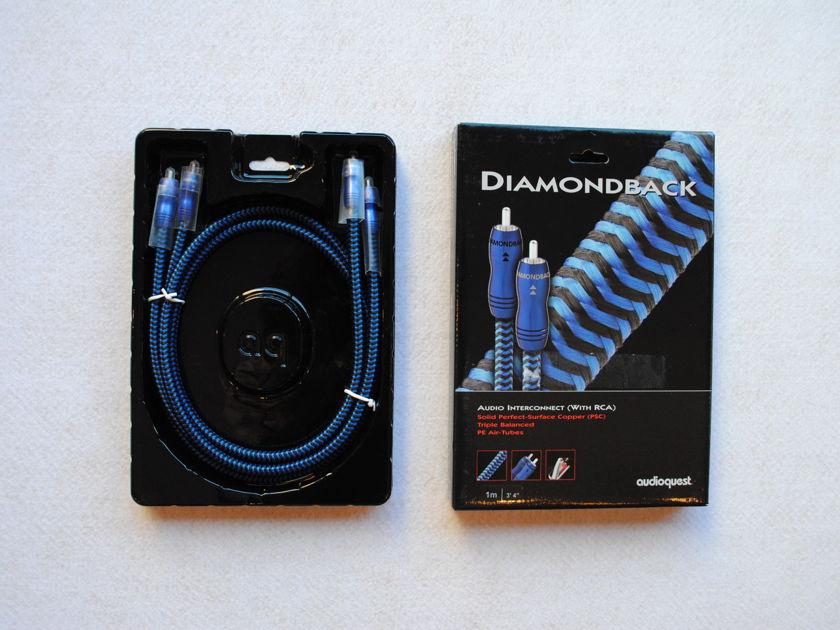 Audioquest Diamondback 1M RCA Interconnects