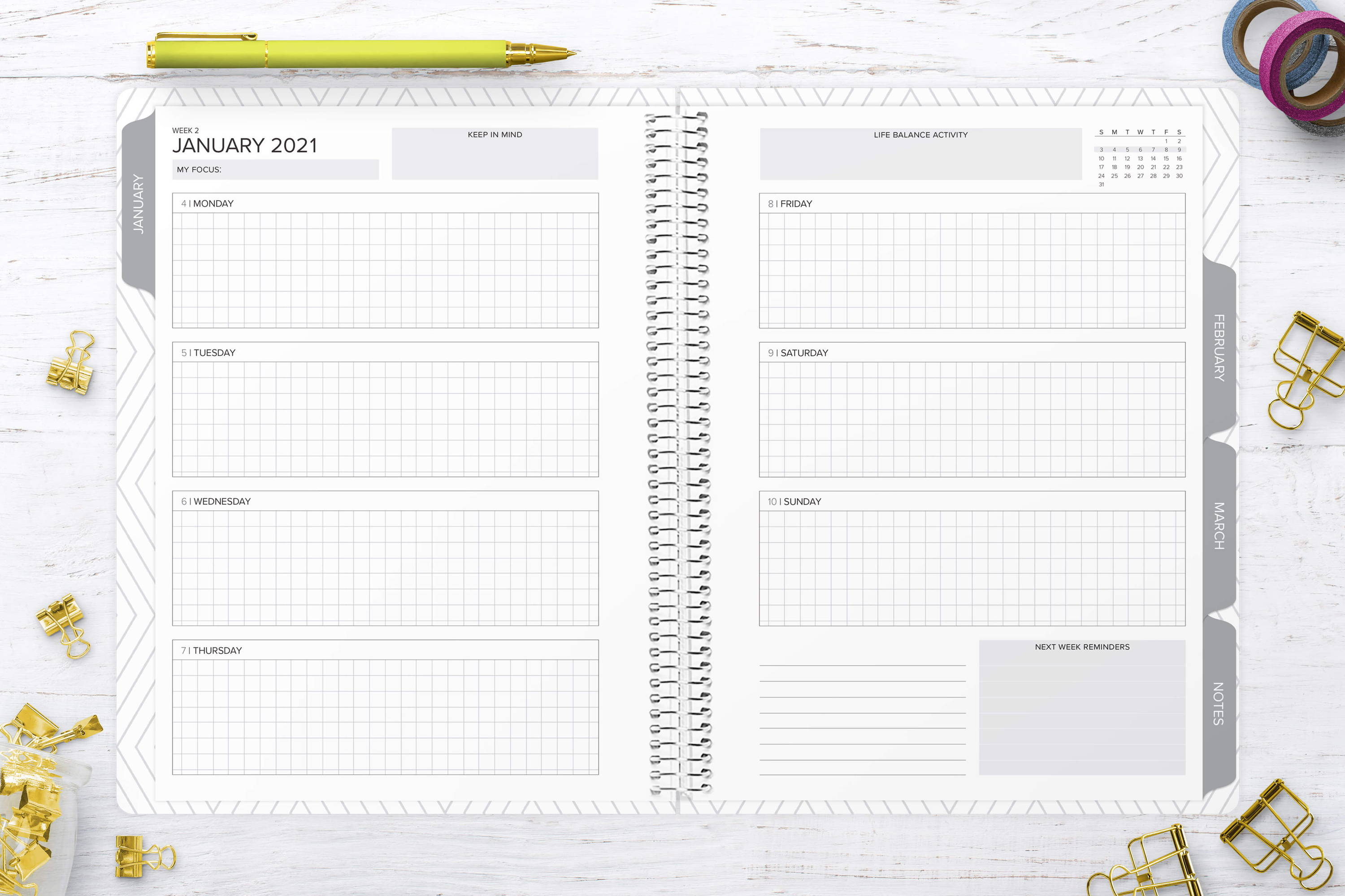 weekly planner layout amplify planner