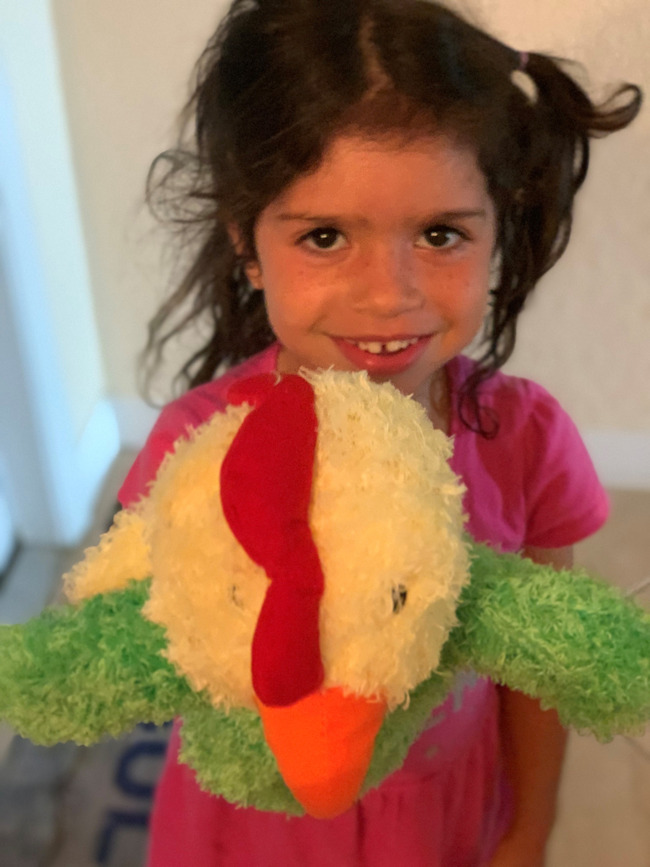 Ava was super excited to receive Percy the Rooster and a special note from him, in the mail!!