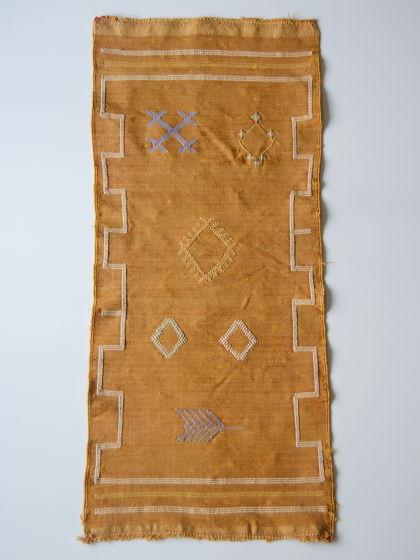 Марроканский ковер из шелка агавы Orange