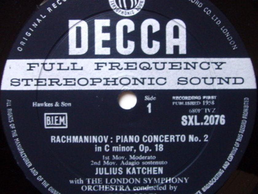 DECCA SXL-WB-ED1 / KATCHEN-SOLTI, - Rachmaninov Piano Concerto No.2, EX!