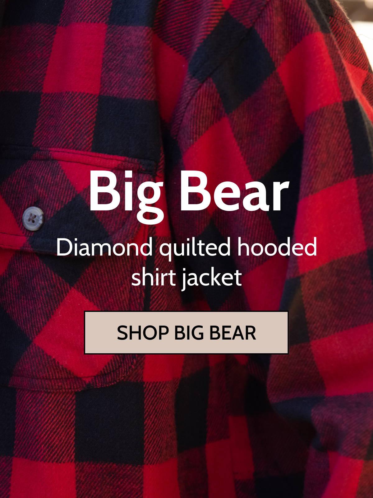 Cayon guide big bear shirt jackets