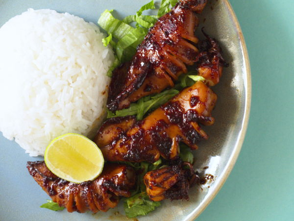 Indonesian Grilled Squid