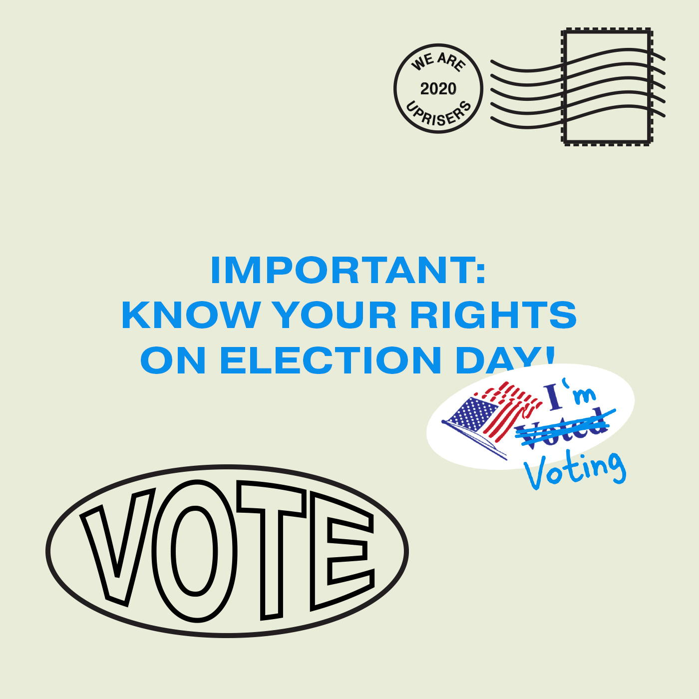voting rights on election day 2020 uprisers