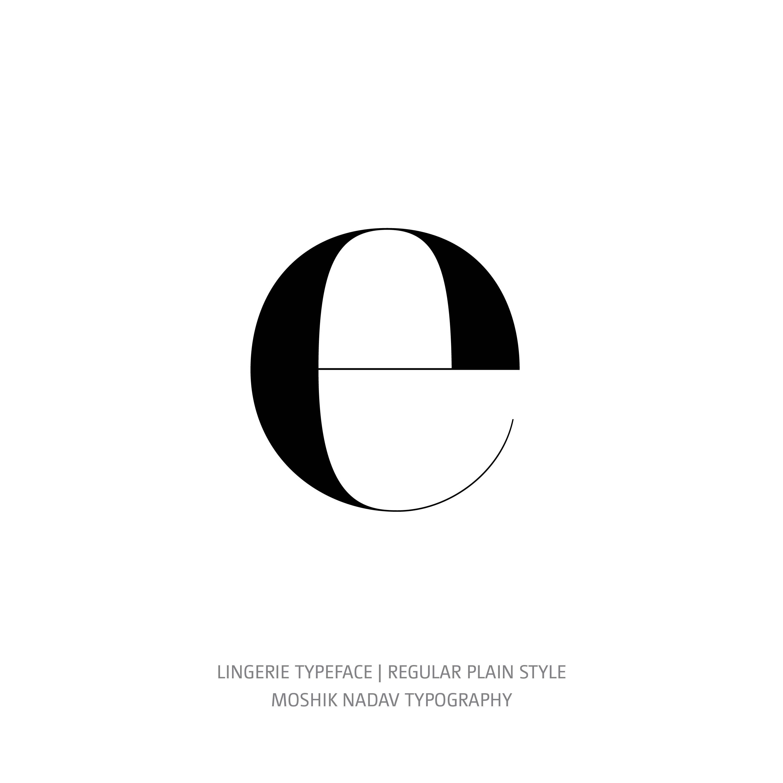 Lingerie Typeface Regular Plain e