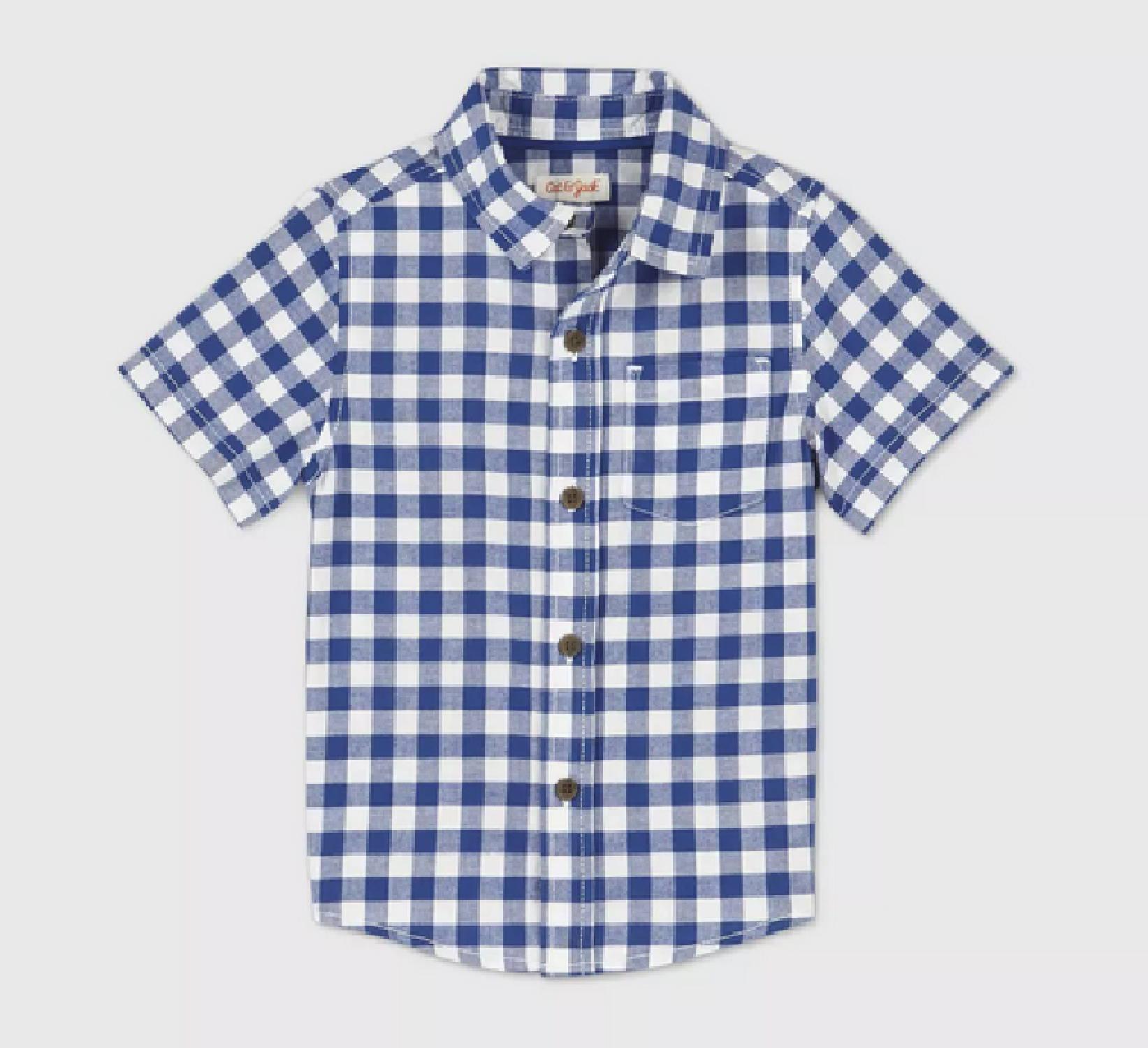 Ring Bearer Navy Gingham Shirt