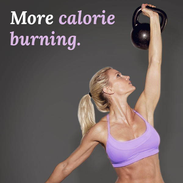 more calorie burning