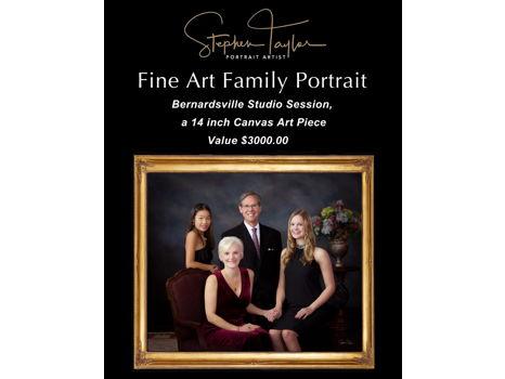 Family Portrait Session and Fine Art Canvas Art Piece