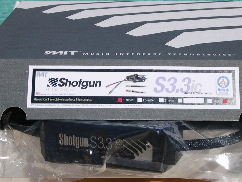 MIT Shotgun S3.3 rca 1M DEMO pair. Gen3 Half-Price, Lifetime Wrnty