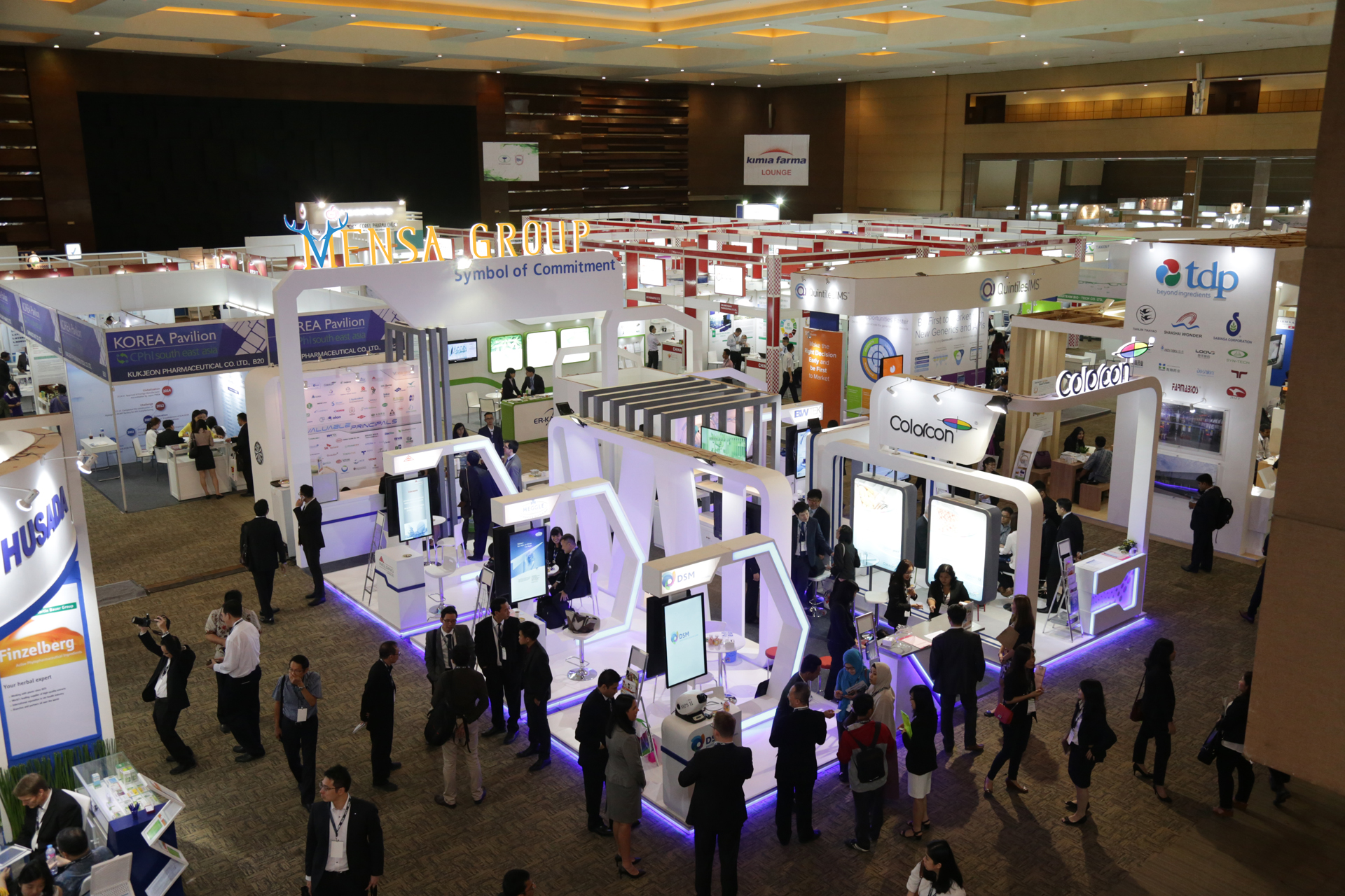The Futuristic Booth of Mensa Group on CPhI 2017