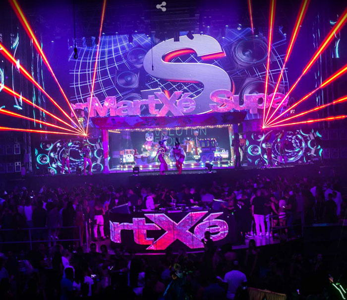Supermartxe party in amnesia Ibiza Club