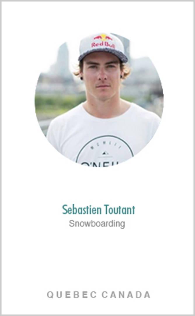 Snowboarder Sebastien Toutant