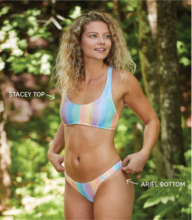 Eidon's Stacey top and Ariel bottom from the Prism collection.