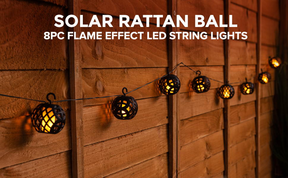 Solar Rattan Ball