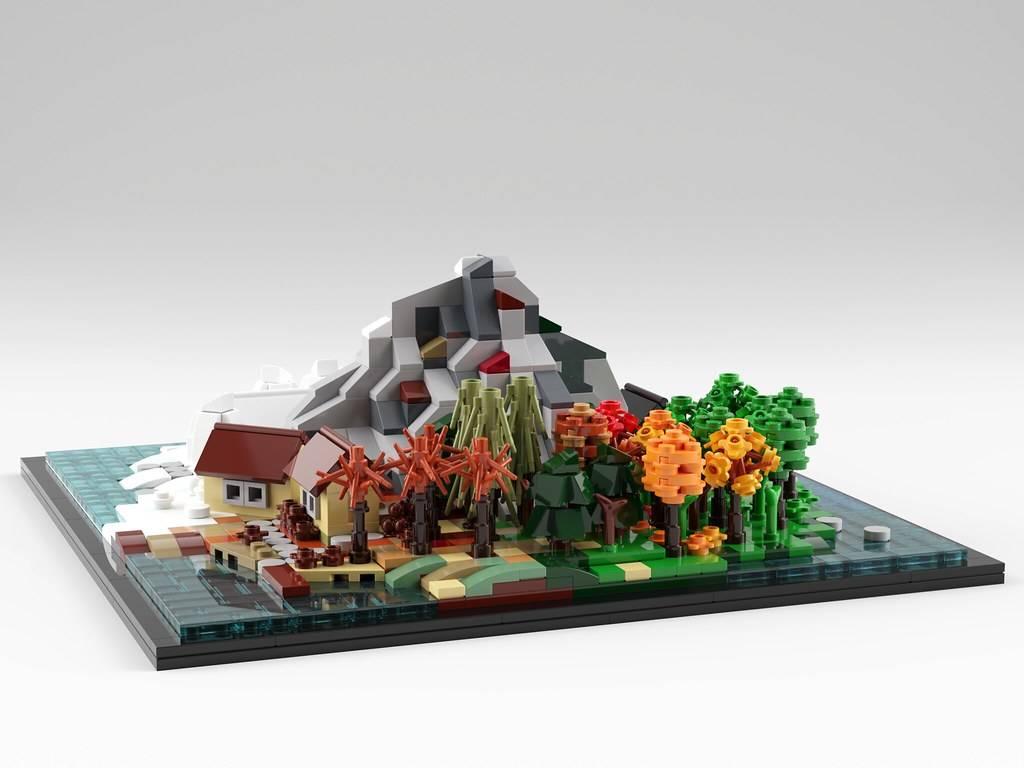 lego Mountain Farm House